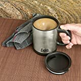 Evelots Self Stirring Battery Operated Mug, Coffee, Tea, Beverage Mixer, Black