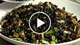 How to make wild rice salad with cranberries and pecans...