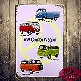 T-ray Classic Retro VW VOLKSWAGEN Combi Wagon Van Rustic Tin Sign Metal Art Wall Decor 20*30cm