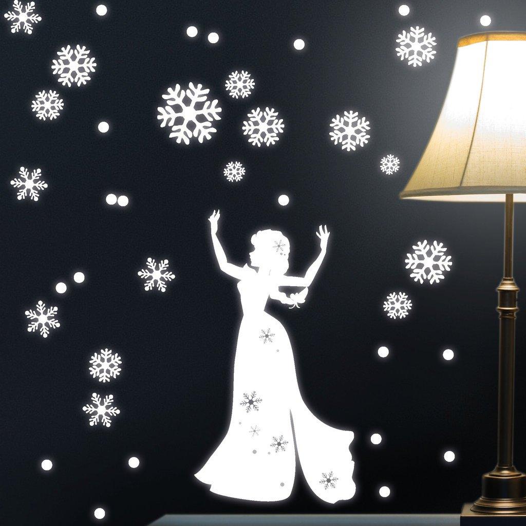 """Wandtattoo Loft """"Fluoreszierende Schnee Königin"""" Leuchtaufkleber Fluoreszierend – Wandtattoo fluoreszierende leuchtende Sticker für das Kinderzimmer günstig online kaufen"""