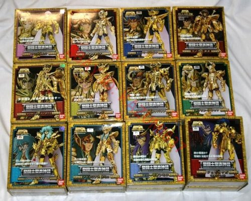 BANDAI 12 SAINT SEIYA GOLD CLOTH MYTH ANIME FIGURES