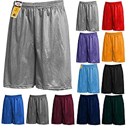 Mens Athletic Mesh Shorts Jersey Sports Basketball Gym Active S-5xl 5oz