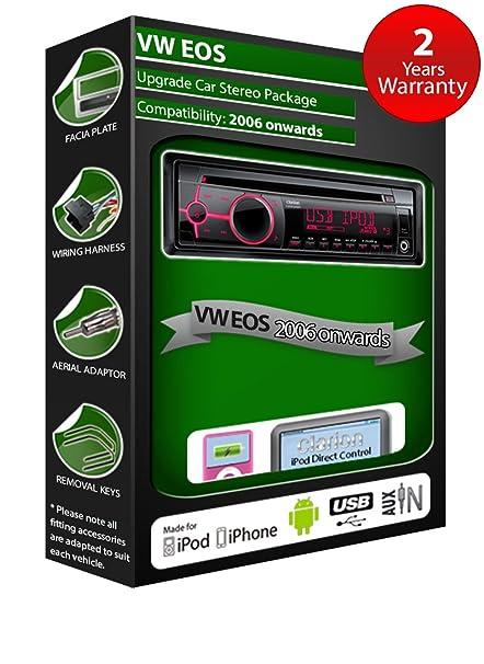 VW EOS de lecteur CD et stéréo de voiture radio Clarion jeu USB pour iPod/iPhone/Android