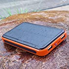 ALLPOWERS™ 10000mAh Solar Panel Charger iphone Dual-Port Portable Charger Backup External Battery Power Bank Pack for iPhone 6 5S 5C 5 4S 4, iPad Air, Other iPads, iPods, Samsung Galaxy S4, S3, S2, Note 3, Note 2, Most Kinds of Android Smart Phones and Tablets, Gopro Camera and More Other Devices (ORANGE)