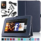 Pandamimi ULAK(TM) Folio Magnetic Stand PU Leather Case Cover with Auto Wake/Sleep Smart Cover Function for Amazon Kindle Fire HD 7