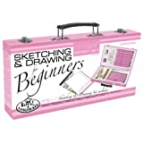 Royal & Langnickel Pink Art Beginner Artist Sketching and Drawing Wood Box Set (Color: Multicolor)