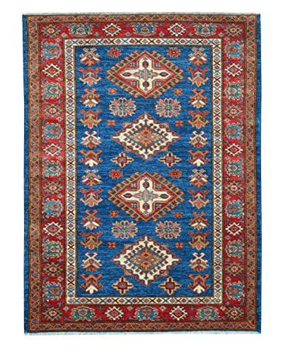 Kalaty One-of-a-Kind Kazak Rug, Blue, 3' 5 x 5' 1