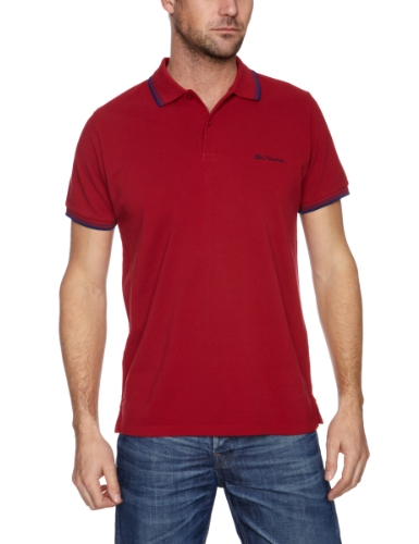 Ben Sherman Short Sleeve Pique Polo MB2600M Men's T-Shirt True Red X-Small