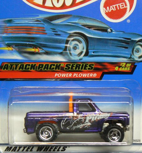 Attack Pack Series #2 Power Plower Unpainted Base #2000-22 Collectible Collector Car Mattel Hot Wheels 1:64 Scale