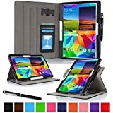"roocase Samsung Galaxy Tab S 10.5 Case - Dual View Multi-Angle Stand 10.5-Inch 10.5"" Tablet Cover - BLACK (With Auto Wake / Sleep Smart Cover)"