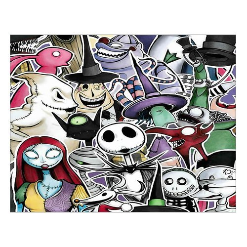 Creative Beautiful Modern Abstract Art The Nightmare Before Christmas Canvas Print 14