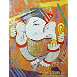 "Dolls Of India ""Lord Vinayaka"" Reprint On Paper - Unframed (63.50 X 48.26 Centimeters)"