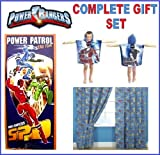 NEW POWER RANGERS 66 X 54 CURTAINS HOODED PONCHO BEACH BATH TOWEL XMAS GIFT SET