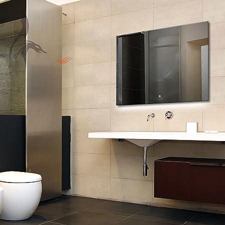 LED Specchio Da Bagno Illuminato, Berlin 80x 60cm, LED specchio da bagno, classe di efficienza energetica A +