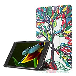 ProElite Samsung Galaxy Tab S2 9.7 Smart Shell Case - Designer Flip Case Cover with Auto Sleep/Wake Feature for Samsung Galaxy Tab S2 Tablet (9.7 Wi-Fi SM-T810 / LTE SM-T815) [Design - Tree]