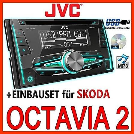 2 Skoda octavia 1Z noir jVC-kW-r510E-kit de montage d'autoradio 2 dIN