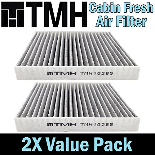 ( Pack of 2 ) TMH® TMH10285 CP285 ( CF10285 ) Premium Cabin Air Filter with Activated Carbon Toyota / Lexus / Scion / Subaru Passenger Driver Car Replacement Air Condition Filter