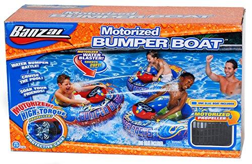 Banzai Motorized Bumper Boat Pool Rider Toys Games Toys