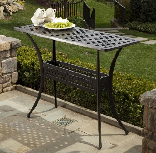 Alfresco Home Cast Aluminum Outdoor Sideboard Console Table photo