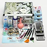 LuckyFine FacileLady Pro False Eye Salon Eyelash Extension Glue Tools Set Full Kit With Hard Suitcase