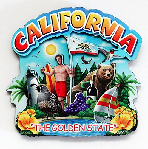 California State Montage Wood Fridge Magnet 2 (Wood Fridge compare prices)