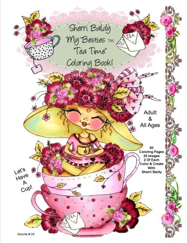 Sherri Baldy My-Besties Tea Time Coloring Book