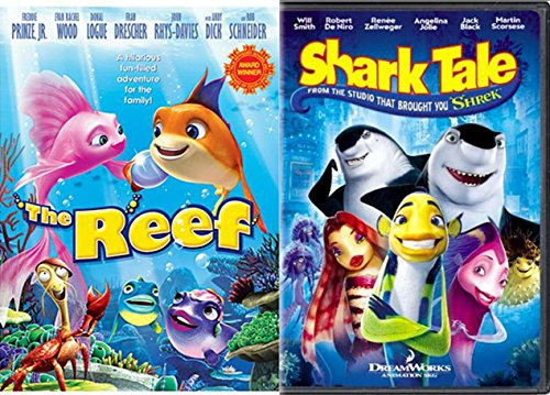 Shark Tale & The Reef DVD Animated Cartoon Movie Set (Shark Tales 2 compare prices)