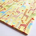 Kids Giraffe Wild Animal Zoo Madagascar African Fabric By the Yard (1 Yd) (CT389)