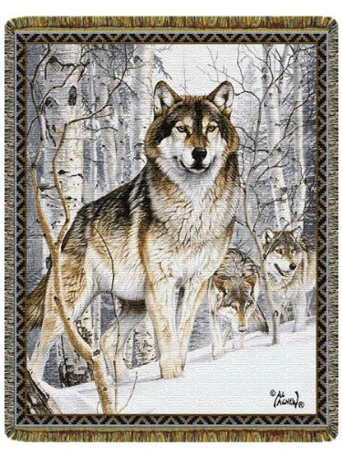 Second Glance Wolf Tapestry Throw By Al Agnew front-313344