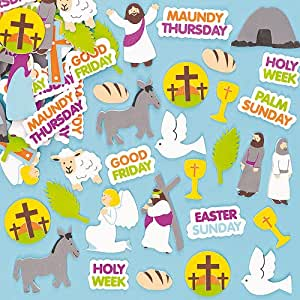 Kids Craft Holy Week Foam Stickers To Learn About Jesus