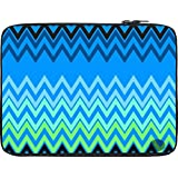 Snoogg Wave Patterns Blues 13 To 13.6 Inch Laptop Netbook Notebook Slipcase Sleeve