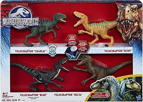 Jurassic-World-2015-Toy-Set-Velociraptor-Delta-Dinosaur-4-Pack-Exclusive