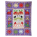 Rajrang Home Décor Embroidered Patch Work Gray Wall Hanging - B00TQRNAGY