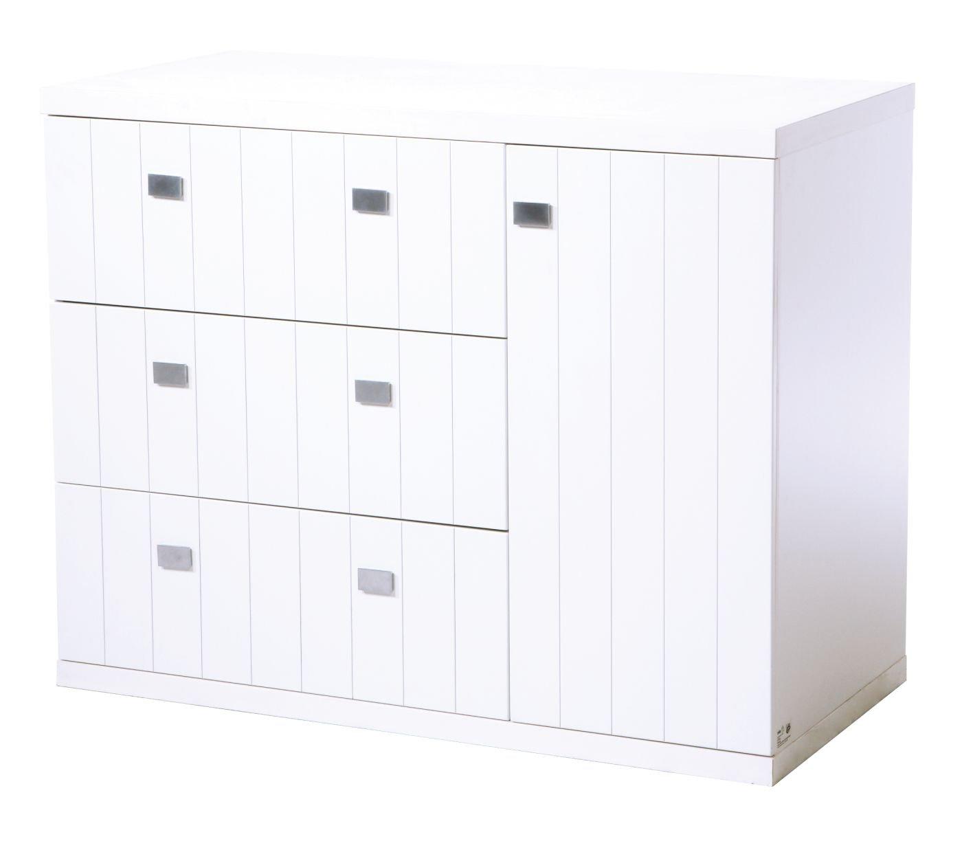 Roba Multistar Kommode mit 1 Tür, 3 Schubladen und 2 Böden in weiss