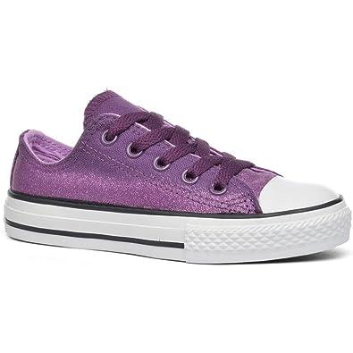 purple sparkle converse