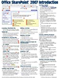 Microsoft Office SharePoint 2007 Introduction Quick Reference Guide (Cheat Sheet of Instructions, Tips & Shortcuts - Laminated Card)