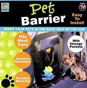 Duke's Auto Pet Barrier with Storage Pockets