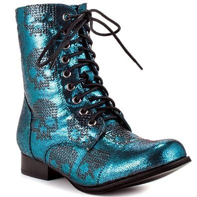 Amazon com iron fist ruff rider combat boot turq iron fist shoes