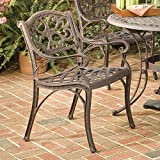 Home Style 5555-802 Biscayne Dining Arm Chairs, Rust Bronze Finish, Set of 2