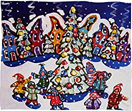 DENY Designs 60 by 50-Inch Renie Britenbucher Oh Christmas Tree Fleece Throw Blanket Medium