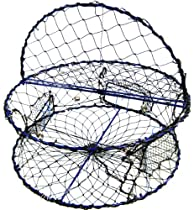 """Promar Heavy Duty Collapsible Crab Pot, 32"""" x 12"""" Poly with Hinged Tending Door - Alaska Legal"""