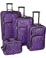 Travelers Choice U.S. Traveler Fashion 4-Piece Spinner Luggage Set
