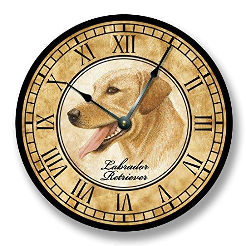 Yellow Labrador Retriever dog Wall Clock antique decor