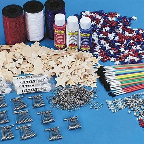 S&S Worldwide Patriotic Crafts Easy Pack