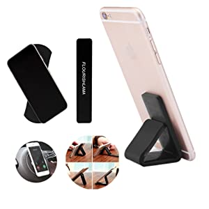 Kplvet Anywhere Sticky Phone Holder, Universal Gel Pads Sticker for Samsung Galaxy, iPhone, Ipad, Nano Rubber Car Mount for Anything (Black, Pack of 2) (Color: pack of 2, Tamaño: 2pcs)
