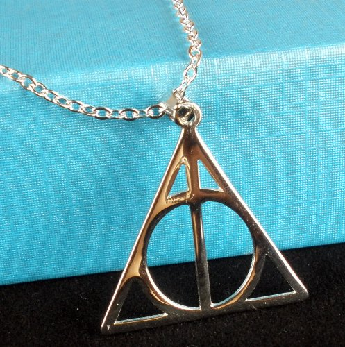 Harry Potter Silver Deathly Hallows Necklace
