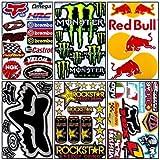 6 Rockstar Energy Drink Metal Mulisha Yamaha Kawasaki Motocross Racing Helmet Motorcycle Decal Sticker ...