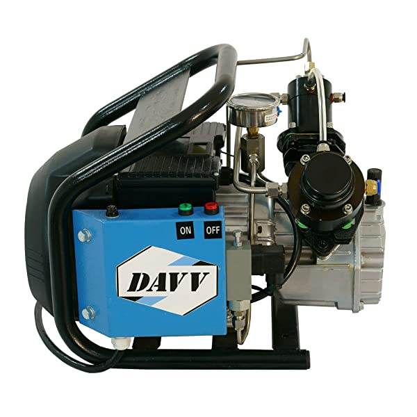 Davv HPDMC 110v 300bar / 4500psi High Pressure Air Compressor Paintball Fill Station for PCP Game (LM60-Auto) (Color: LM60-Auto)