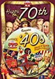 Happy 70th Birthday DVD Greeting Card: A Flickback Decade DVD