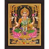 Avercart Goddess Laxmi / Shri Lakshmi / Laxmiji / Goddess Of Wealth Poster 8.5x11 Inch With Photo Frame (21x28 Cm Framed)